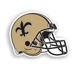 "12"" New Orleans Saints Helmet Magnet"