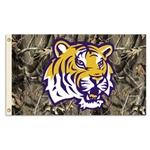 Louisiana State Tigers Camo 3x5 Flag